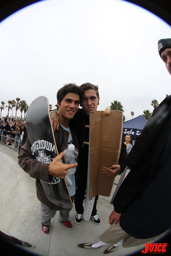 LANCE CARRERA-NEWTON AND JAMIE QUAINTANCE. WINNERS. PHOTO: DAN LEVY