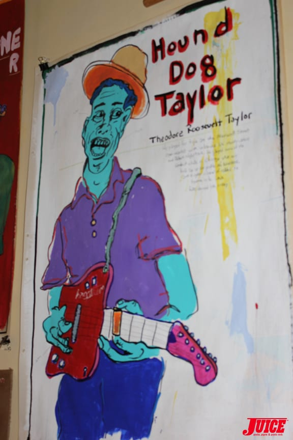 HOUND DOG TAYLOR ART BY TIM KERR. PHOTO: VANESSA DAVEY