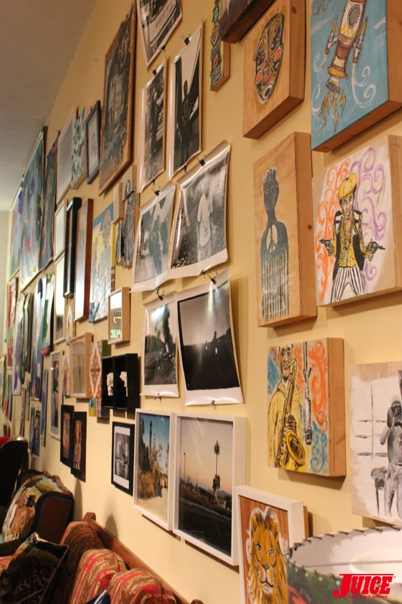 ART WALL. PHOTO: VANESSA DAVEY