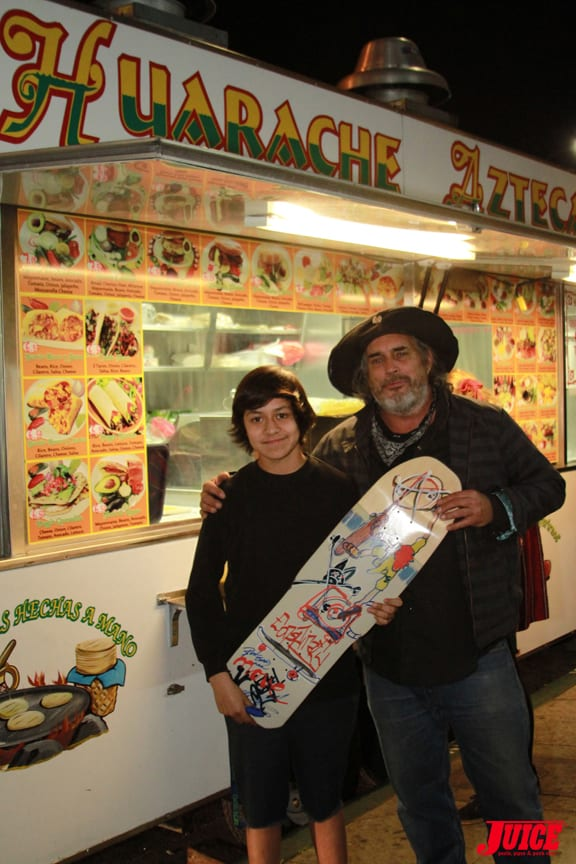 Steve Olsona and Fan PHOTO © DAN LEVY