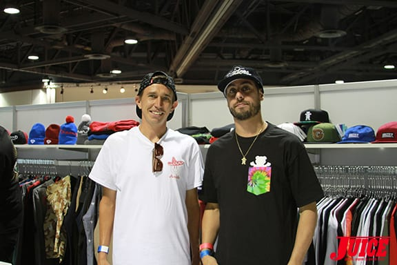 Joey Brezinski and Sean Apgar of Diamond Supply Co. PHOTO BY DAN LEVY.