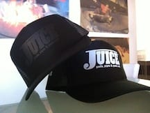 Juice Trucker Hats Stealth and White Lightning