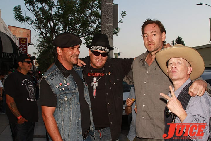 Robert Rusler, Dave Duncan, Ben Schroeder and Max Perlich. Daggers Rule! 2014. Photo by Dan Levy