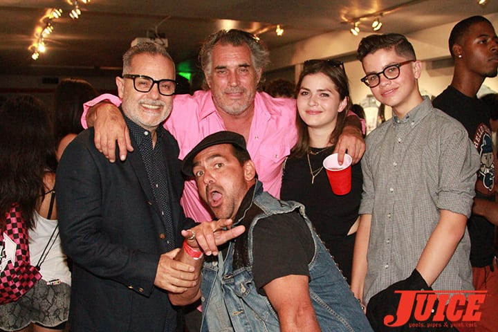 Sam, Steve Olson, Robert Rusler, Ethan and Claire. Daggers Rule! 2014. Photo by Dan Levy