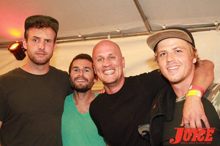 Corey, Johnny, Sam and Jordy. Daggers Rule! 2014. Photo by Dan Levy