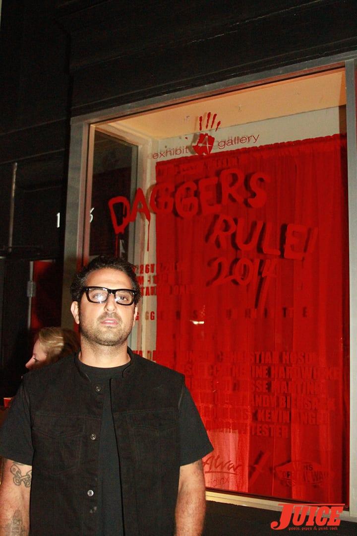 Yaniv Evan. Daggers Rule! 2014. Photo by Dan Levy