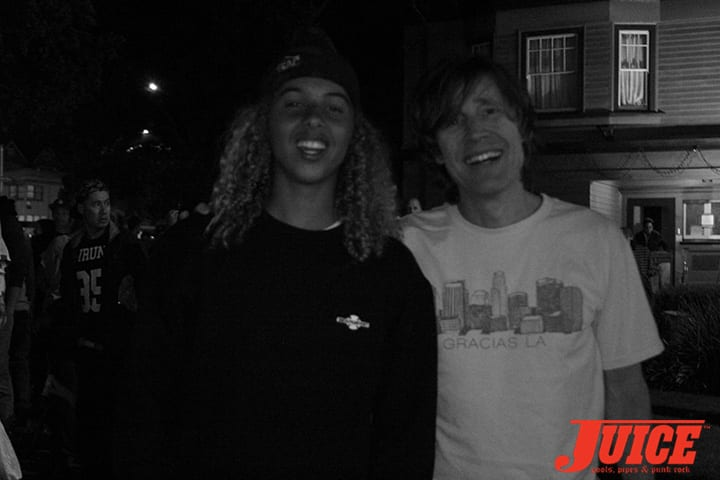 Olan Prenatt and Rodney Mullen. Gracias Skateboarding. Photo by Dan Levy.