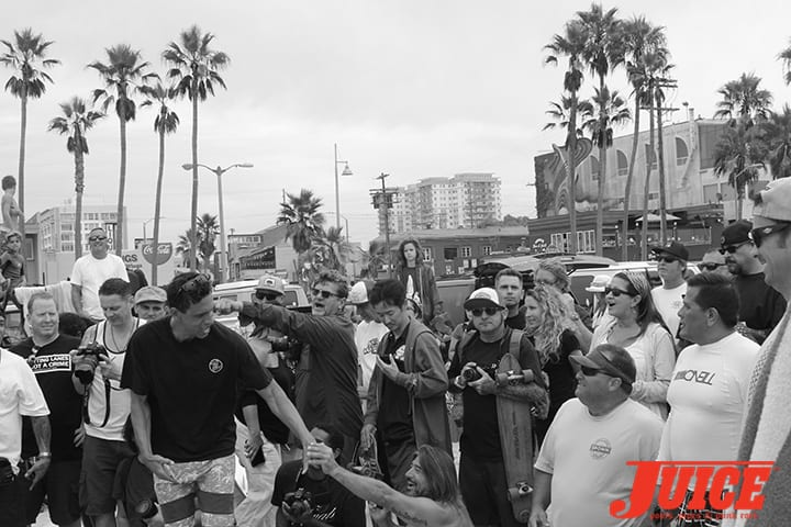 SHOGO KUBO MEMORIAL PADDLE OUT IN VENICE. PHOTO BY DAN LEVY.