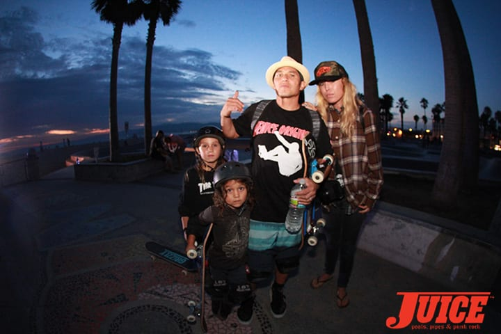 THE CHRISTIAN HOSOI FAMILY.  SHOGO KUBO MEMORIAL SKATE SESSION VENICE. PHOTO BY DAN LEVY