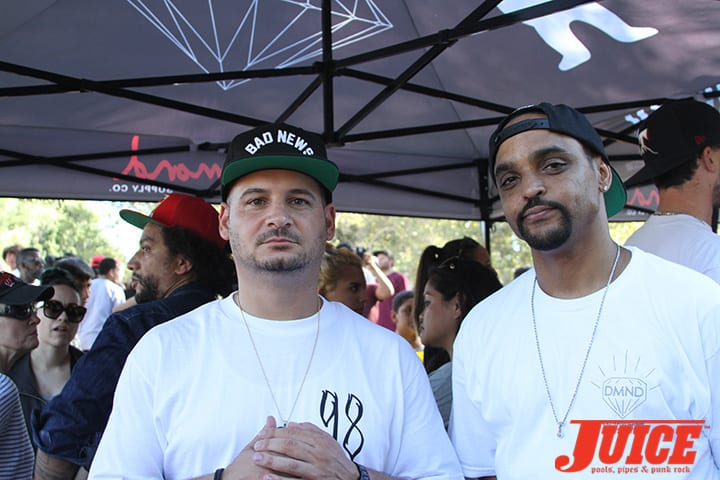 Nicky Diamond and Jeron Wilson. Diamond Skate Plaza Opening Day 2014. Photo by Dan Levy.