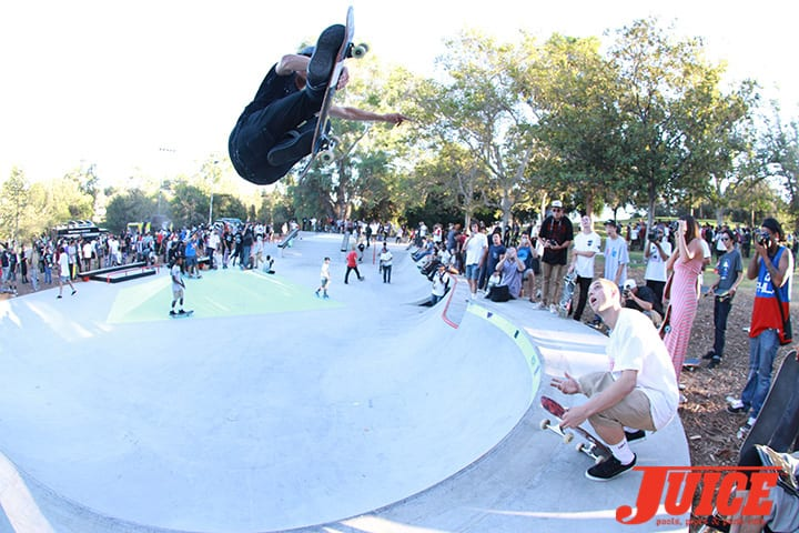 David Loy and Raven Tershy. Diamond Skate Plaza Opening Day 2014. Photo by Dan Levy.