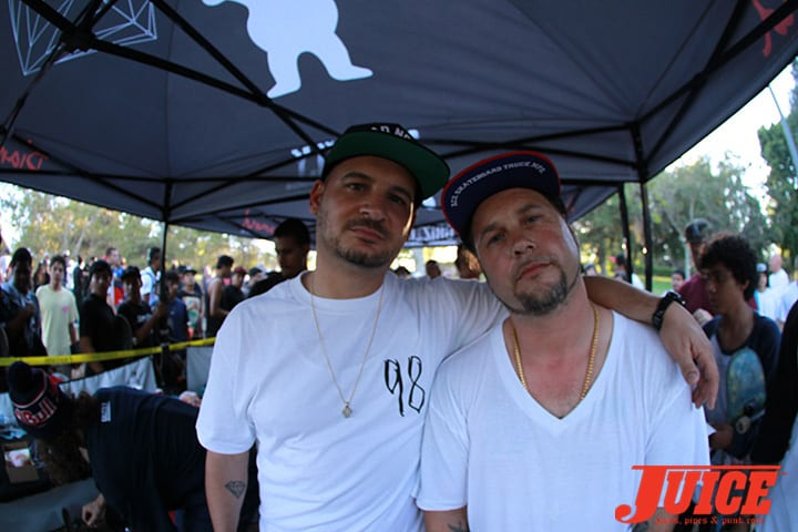 Nick Tershay and Joey Tershay. Bros for life. Diamond Skate Plaza Opening Day 2014. Photo by Dan Levy.