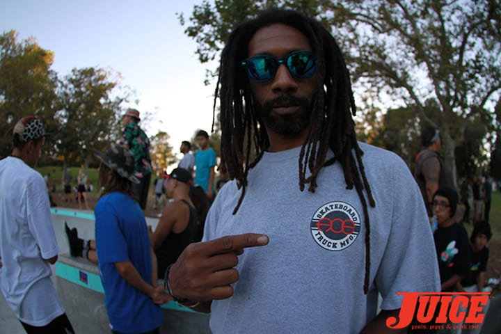 Jahmel Robinson. Diamond Skatepark Opening 2014. Photo by Dan Levy.