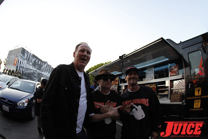 Jim Muir, Max Perlich, Tim Jackson. Z-Flex Jay Boy Classic After Party. Photo by Dan Levy