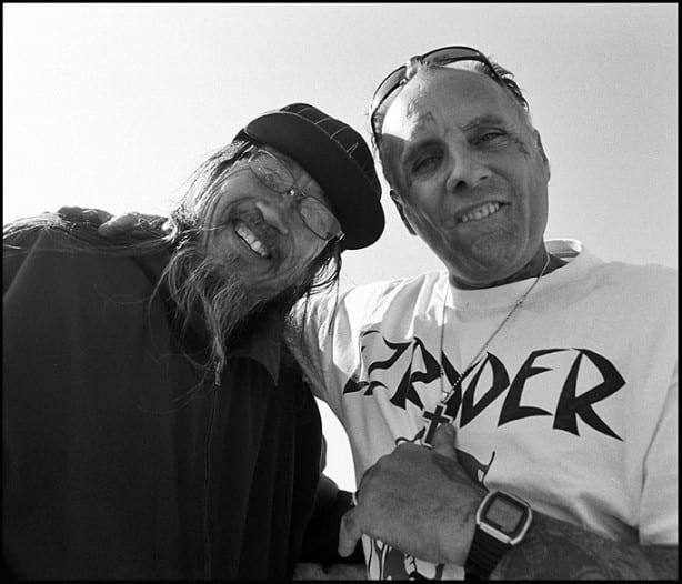 Jeff Ho and Jay Adams. Feb 2011. Photo by Glen E. Friedman