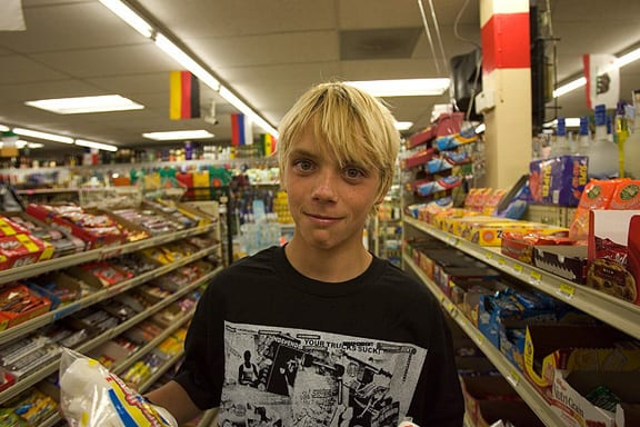 Jay Adams' son, Seven. Photo: Duncan