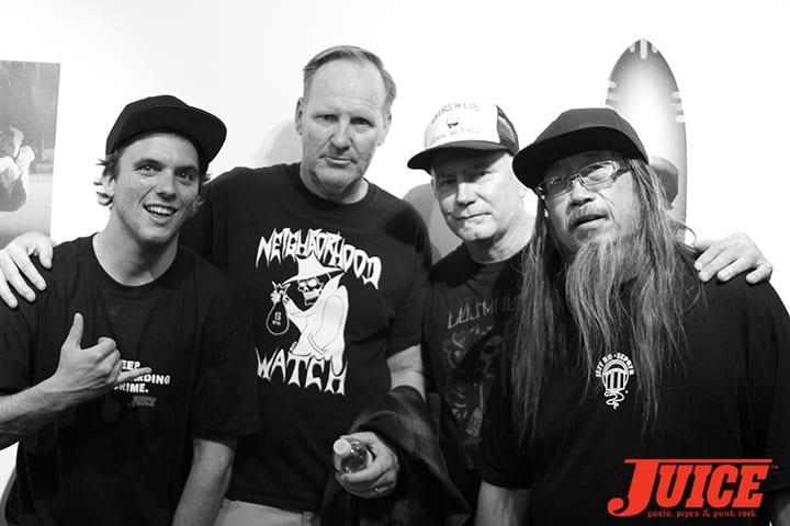 Jay Adams' son, Seven Adams, Jim Muir, George Wilson and Jeff Ho