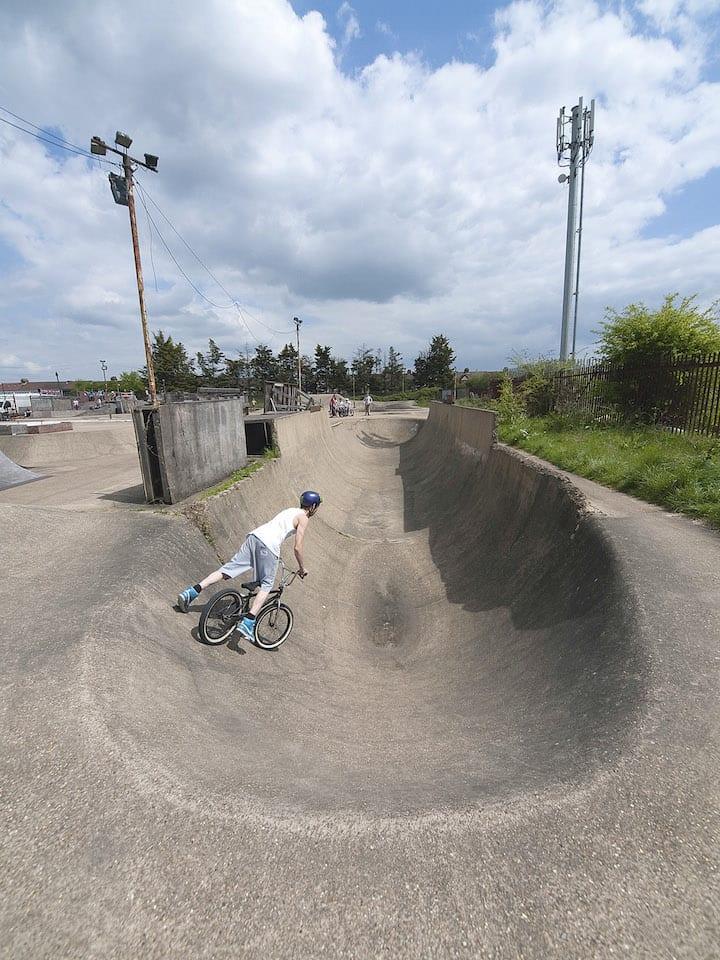 The Half Pipe at Rom Skatepark.