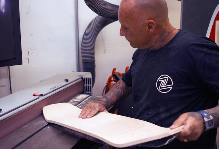 Jay Adams shapes Master Crafted Z-Flex Skateboard