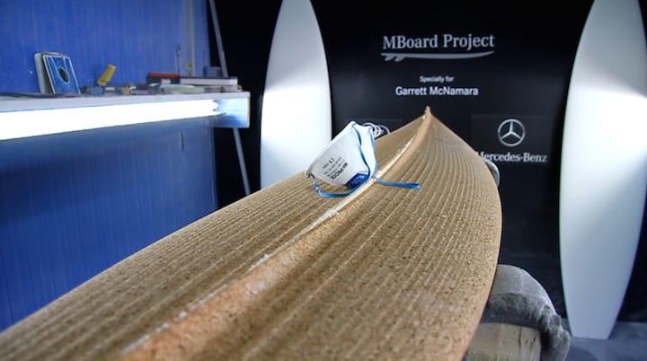 Mercedes-Benz and Garrett McNamara surfboards