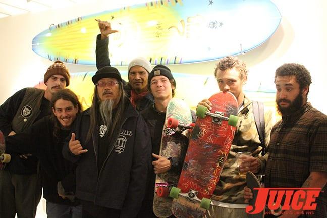 Jason Landau, Seattle crew, Jeff Ho, Pat Ngoho. Photo by Dan Levy