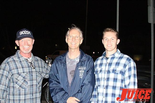 Brian Cullen, Cris Dawson and Brian Cullen's son, Kevin. Photo by Dan Levy
