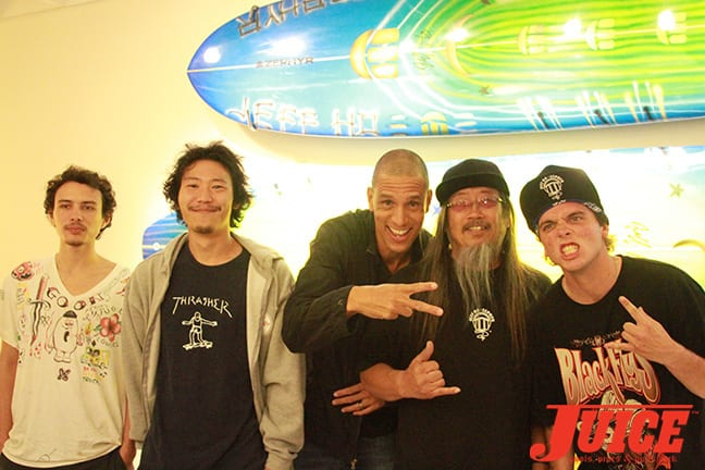 Ben Thomas, Shota Kubo, Solo Scott, Jeff Ho, Seven Adams. Photo by Dan Levy