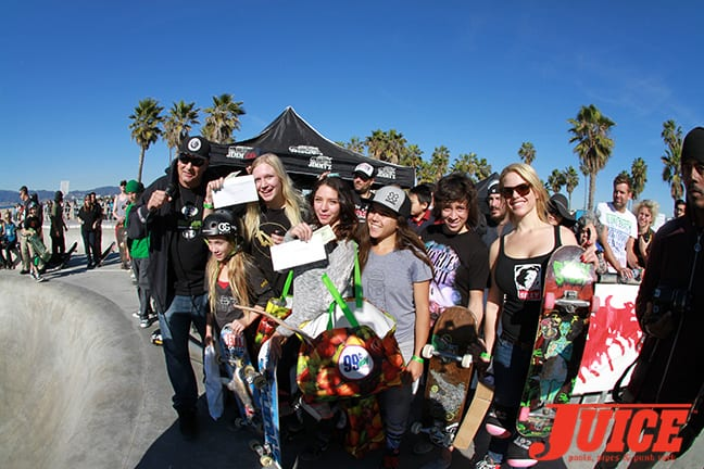 IMG_1032 - Winners of the Girls Contest - Makaha Bowl Jam 2015. Photo by Dan Levy