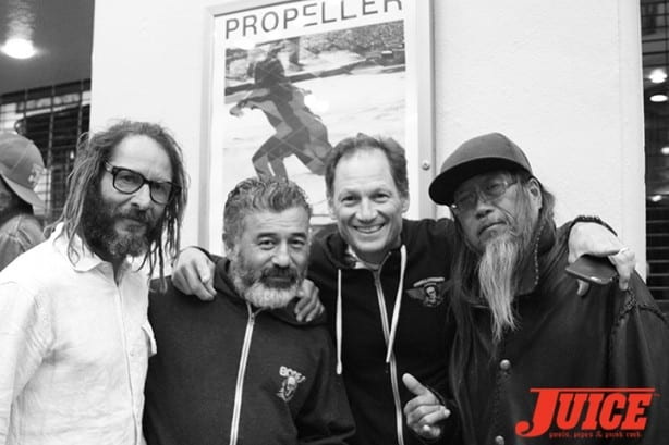 Tony Alva, Steve Caballero, Mike McGill, Jeff Ho. Photo by Dan Levy