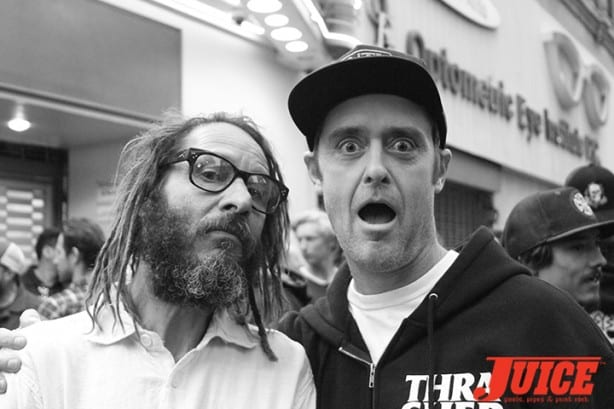 Another jawdropping moment with Tony Alva and Buddy Coan. Photo by Dan Levy