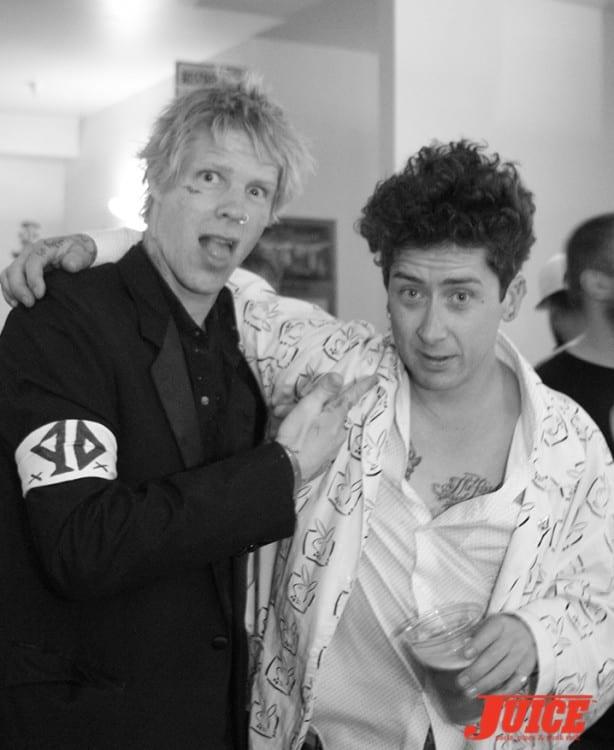 Braydon Szafranski and Dustin Dollin. Photo by Dan Levy