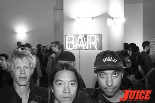 Braydon Szafranski, Nuge and Atiba Jefferson. Photo by Dan Levy