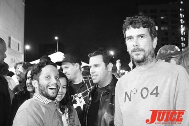 Aaron Meza, Reda, Jay. Photo by Dan Levy