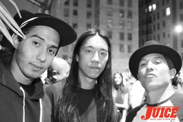 Julian Martinez, Nuge, Christian Hosoi. Photo by Dan Levy