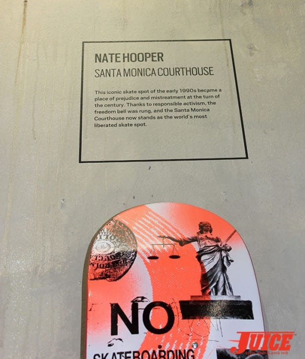 Nate Hooper skate art graphic tribute to the Santa Monica Courthouse. Photo by Vans Davey