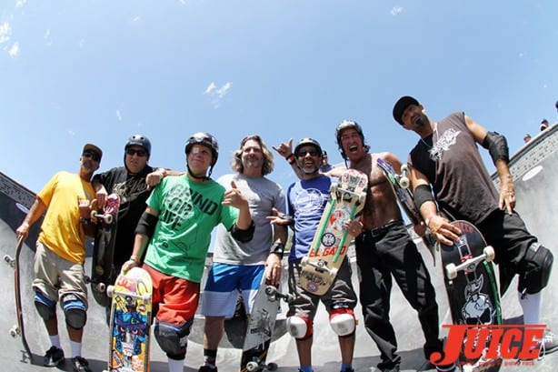 Eddie Havina, Dave Duncan, Mike Rogers, Jim Gray, Eddie Elguera, David Hackett, Eddie Elguera - Skate For A Cause 2015. Photo by Dan Levy