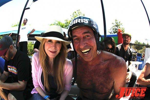 Zannah and David Hackett - Skate For A Cause 2015. Photo by Dan Levy