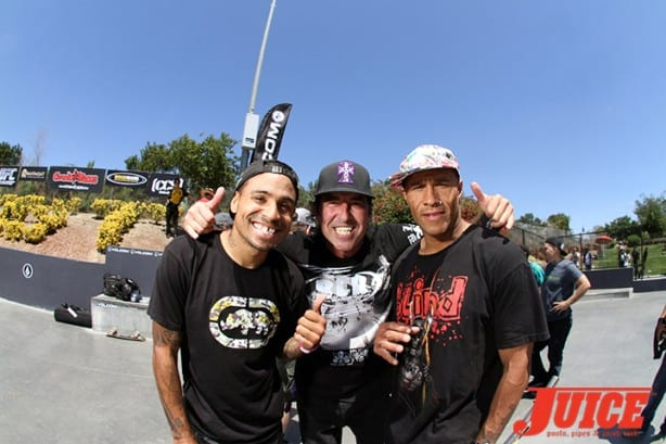 Manny Santiago, Dave Hackett, Sean Sheffey - Skate For A Cause 2015. Photo by Dan Levy