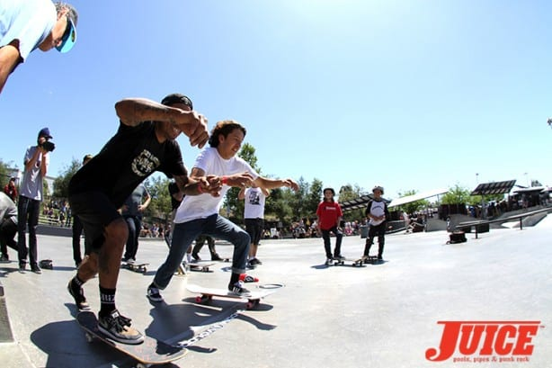 Manny Santiago and Daniel Vargas - Skate For A Cause 2015. Photo by Dan Levy