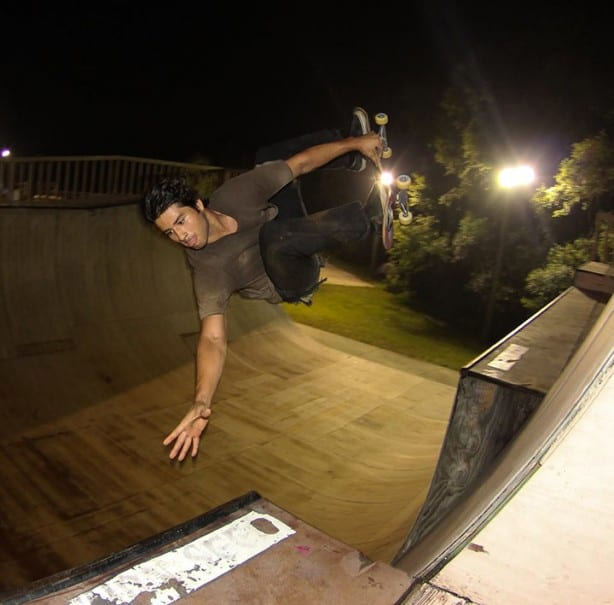 "Delfino ""double touch"" fs invert over 6ft channel."