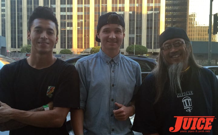 Nyjah Huston, Shane O'Neill, Jeff Ho. Photo by Dan Levy