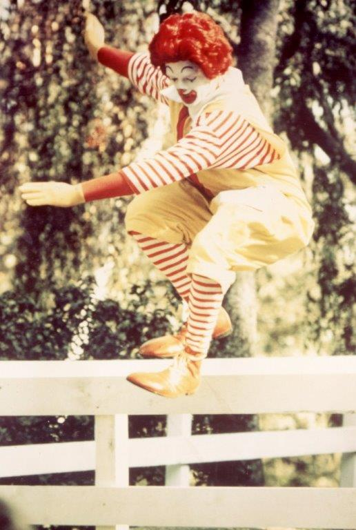 Ronald McDonald skateboards