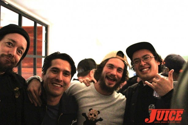 Chris Casey, Omar Salazar, Torey Pudwill, and Jordy Clot