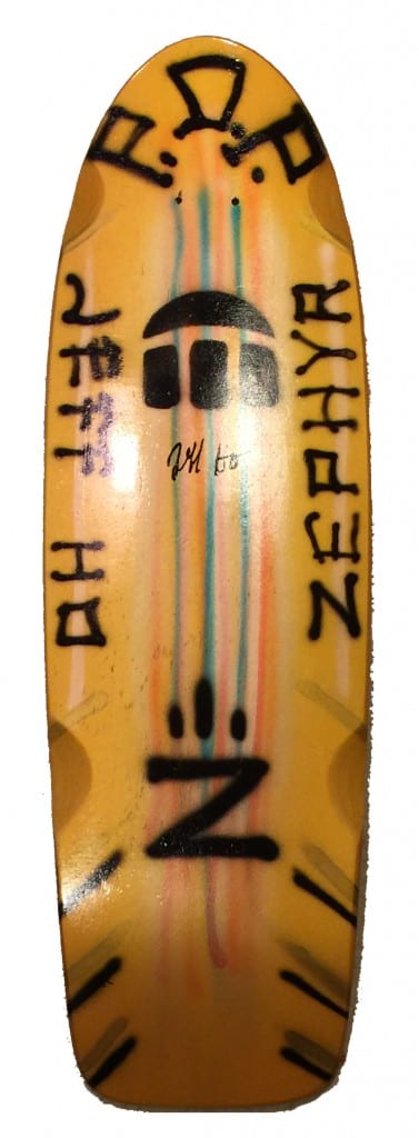Jeff Ho Zephyr Hand Painted Gold Skateboard