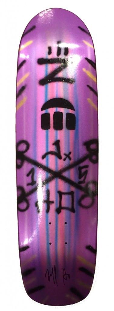 Jeff Ho Zephyr Hand Painted Royal Purple Skateboard
