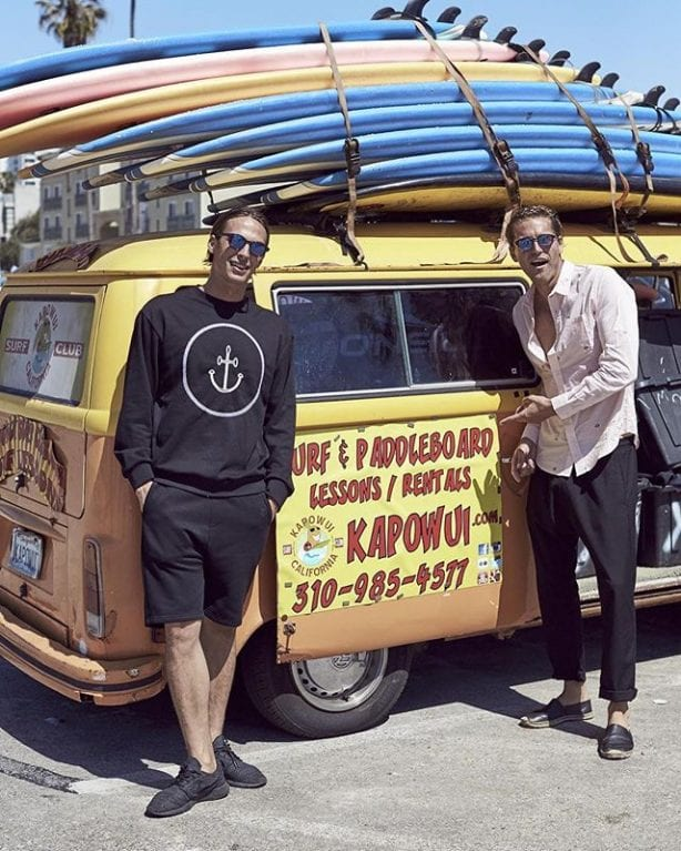 Luke Stedman and Keegan Gibbs on location in Venice beach for IWS. Photo by Trevor King