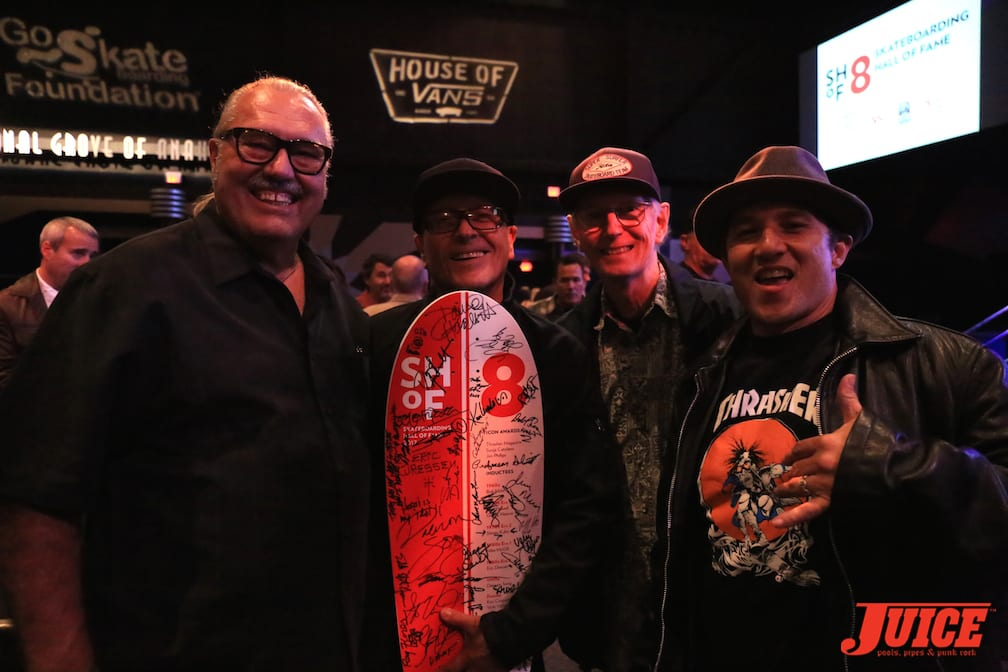 Larry Balma, Ray Flores, Cris Dawson, and Christian Hosoi photo by Dan Levy © Juice Magazine