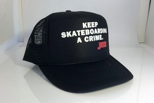 Keep Skateboarding A Crime Hat Black