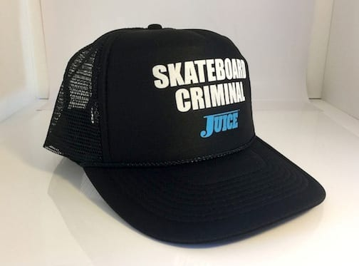 Skateboard Criminal Hat Black