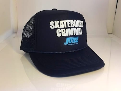 Skateboard Criminal Hat Navy Blue